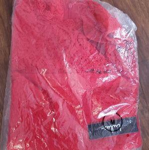 Lulu's Red Lace dress